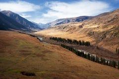 Autumn in the valley Chilik, Kazakhstan Royalty Free Stock Photo