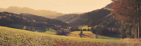 Autumn valley Royalty Free Stock Images