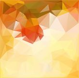 Autumn.Vector abstract polygonal background. Vector illustration Triangular objects Stock Photography