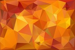 Autumn.Vector abstract polygonal background. Vector illustration Triangular objects Stock Images
