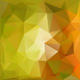 Autumn.Vector abstract polygonal background. Vector illustration Triangular objects Royalty Free Stock Photography