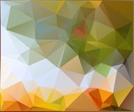 Autumn.Vector abstract polygonal background. Vector illustration Triangular objects Royalty Free Stock Photo