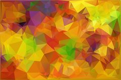 Autumn.Vector abstract polygonal background. Vector illustration Triangular objects Stock Photo