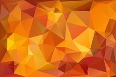 Autumn.Vector abstract polygonal background. Vector illustration Triangular objects Stock Image