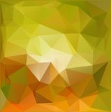 Autumn.Vector abstract polygonal background. Vector illustration Triangular objects Stock Photos