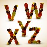 Autumn Vector alphabet letters / font Royalty Free Stock Photo