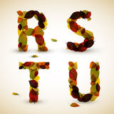 Autumn Vector alphabet letters / font Stock Image