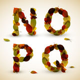 Autumn Vector alphabet letters / font Stock Photos