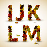 Autumn Vector alphabet letters / font Stock Images