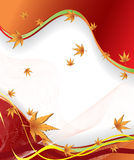 Autumn vector background. In red Stock Photography