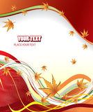 Autumn vector background. In red Stock Images
