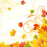 Autumn vector background. With swirls Stock Photography
