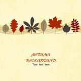 Autumn vector background. Autumn leaf ornament on the light grunge background Vector Illustration