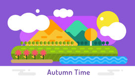 Autumn vector background Stock Image