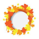Autumn vector banner with  leaves Royalty Free Stock Photos