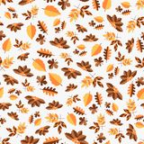 Autumn vector color seamless pattern of leaves for greeting card or web. Autumn vector color seamless pattern of leaves for background stock illustration