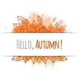 Autumn vector cover Royalty Free Stock Images