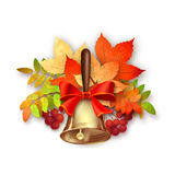 Autumn Vector Fall Leaves and Bell Royalty Free Stock Image