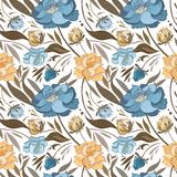 Autumn Vector Floral Pattern Fotografie Stock