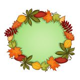 Autumn vector frame Stock Photos