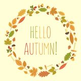 Autumn Vector illustration Royaltyfri Fotografi