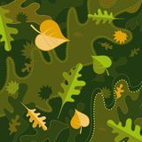 Autumn vector leafs royalty free illustration