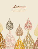 Autumn vector leaves background Stock Photo