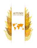 Autumn vector leaves Stock Photography