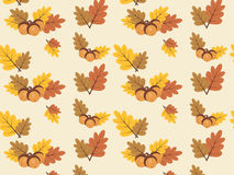 Autumn vector pattern with colourful leaves Royalty Free Stock Photo