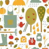 Autumn vector pattern Royalty Free Stock Image