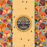 Autumn vector pattern with Typography Stock Photography
