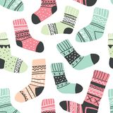 Seamless pattern with cute colorful socks royalty free illustration