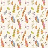 Autumn vector seamless pattern. Stock Photos