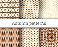 Autumn vector seamless patterns set. Illustration. Endless texture Royalty Free Stock Photography