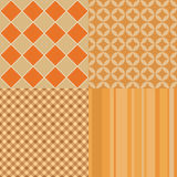 Autumn vector seamless patterns. Royalty Free Stock Images