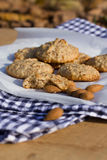 Autumn vegan almond cookies Stock Images