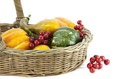 Autumn Vegetables and Berries Royalty Free Stock Photography