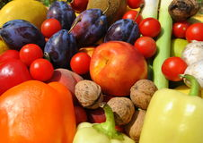 Autumn vegetables and fruits Stock Photography
