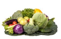 Autumn vegetables on isolated white background Royalty Free Stock Photo