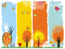 Autumn vertical banners. Stock Photography