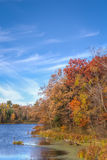 Autumn Vibrant Colors on Apple River Stock Photography