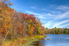 Autumn Vibrant Colors on Apple River Royalty Free Stock Image