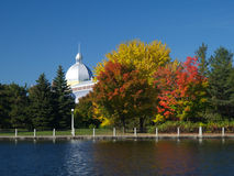 Autumn view. A mosque beside Rideau canal Royalty Free Stock Images