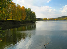 Autumn view. Of lake and forest Stock Photo
