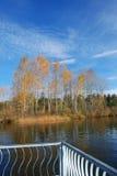 Autumn View. On a lake Royalty Free Stock Photos