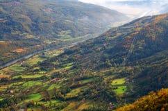 Autumn view above river Drina, Tara mountain, Western Serbia. Autumn view above river Drina, National Park Tara mountain, Western Serbia. Amazing picture with royalty free stock photo