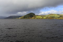 An Autumn view across Lake Vyrnwy Stock Images