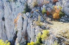 Autumn view of AI-Petri mountain, Crimea. Stock Photos