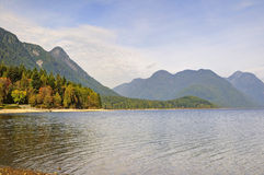 Autumn view at Alouette lake in Golden Ears park, Vancouver, Canada Stock Photo