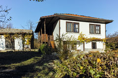 Autumn view of Architectural and historical reserve of village of Bozhentsi, Bulgaria Royalty Free Stock Photo
